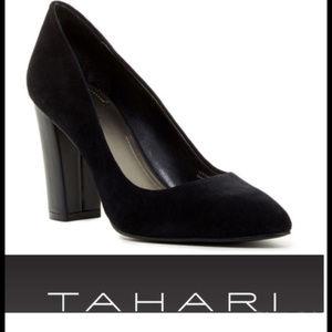 NIB Tahari  Sz 7.5 8.5 10 Black Suede Pump Shoe